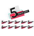 stylish days countdown timer design vector image vector image