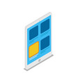 tablet computer isometric 3d icon vector image vector image