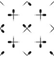 two wooden crossed oars pattern seamless black vector image vector image