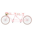 valentines day vintage tandem bicycle vector image vector image