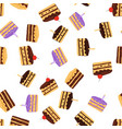 cake pattern seamless background vector image