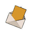 email paper message communication web vector image