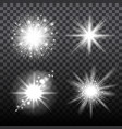 flash stars set on transparent background vector image