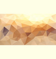 abstract irregular polygonal background beige vector image vector image