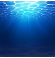 Abstract Underwater background with vector image vector image
