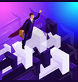advertising concept isometry 3d businessman vector image