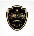 american football champions badge emblem vector image vector image