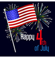 american independence day celebration with flag vector image vector image