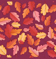 autumn leaves seamless background fall pattern vector image vector image