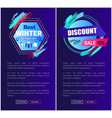 best winter sale set web vector image vector image