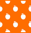 black apple pattern seamless vector image vector image