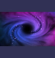 black hole in outer space vortex in cosmos with vector image vector image