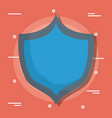 blue shield design vector image