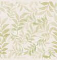 botanical seamless pattern delicate vector image vector image