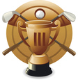 bronze award vector image vector image