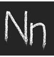 chalk alphabet vector image vector image