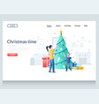 christmas time website landing page design vector image
