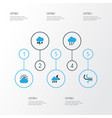 climate colorful icons set collection of vector image vector image