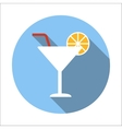 Cocktail flat icon vector image