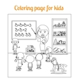 Coloring page for kids during lesson vector image vector image