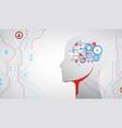 creative brain concept background artificial vector image vector image