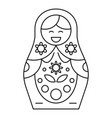 cute nesting doll icon outline style vector image vector image