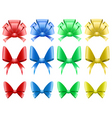 decorative bows vector image vector image