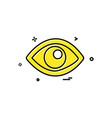 eye icon design vector image vector image