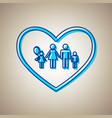 family sign in heart shape