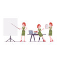 female clerk working vector image vector image