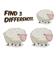 Find differences game sheep vector image vector image