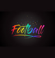 football word text with handwritten rainbow vector image vector image