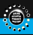 full and partial solar eclipse design elements vector image