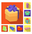 gift and packing flat icons in set collection for vector image