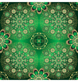 Golden and green seamless pattern vector image vector image