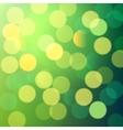 green and yellow bokeh lights vector image vector image