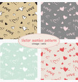 hearts valentine day set vector image