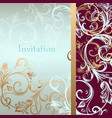 invitation card or background in luxury style vector image