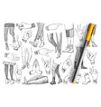 legs and hands doodle set vector image vector image