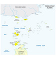 map australian torres strait islands vector image vector image