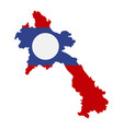 map laos - flag vector image vector image