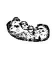 mount rushmore black 8 bit minimalistic pixel art vector image