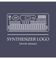 Music instrument Synthesizer logo vector image
