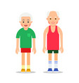 old people in sportswear main pose during health vector image