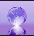 purple shining transparent earth globe vector image vector image