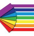 rainbow book vector image vector image