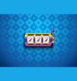 rainbow color casino slot machine with vector image