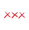 Red doodle xxx vector image