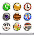 round button icons-set 2 vector image vector image
