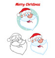 santa claus face character hand drawing collection vector image vector image